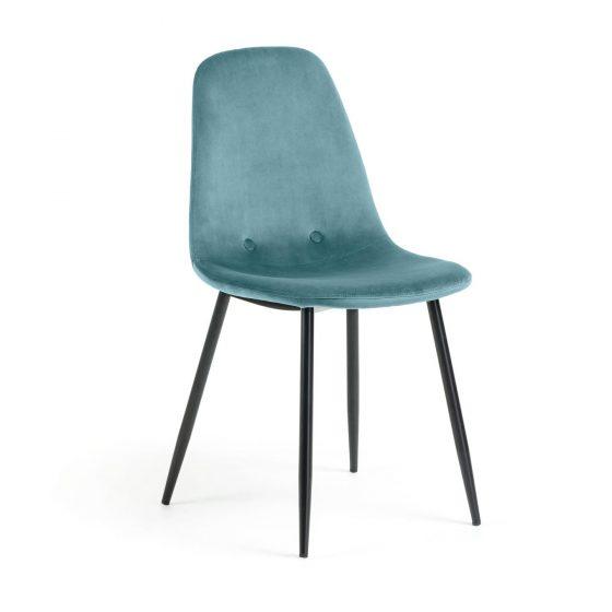 Comprar-silla-tapizada-terciopelo-turquesa