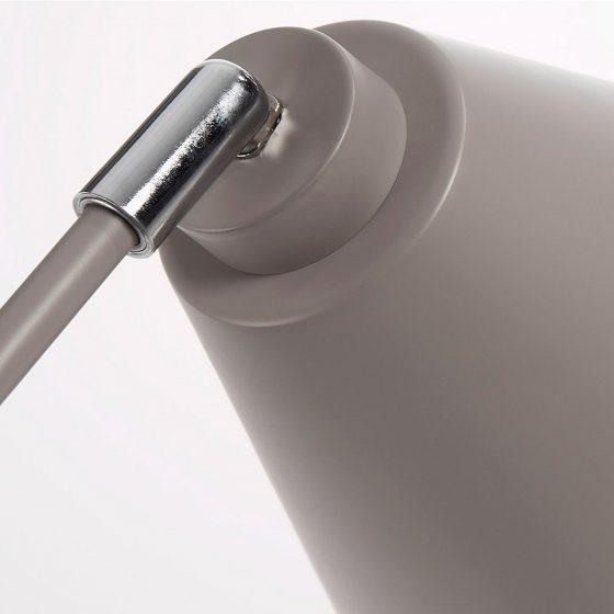 Lámpara de mesa moderna metal gris dindonliving