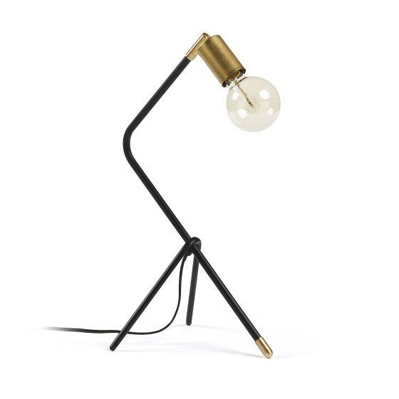 Lámpara de mesa negra y dorada sencilla dindonliving