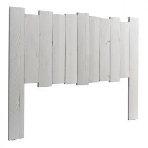 Cabecero rústico blanco maderas dindonliving
