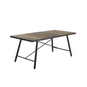 Mesa de comedor industrial oscura dindonliving