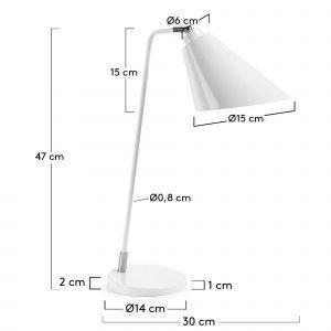 Lámpara Tumir blanca
