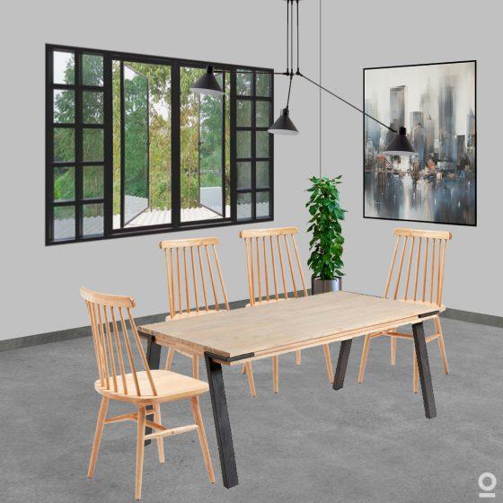 Conjunto de comedor-incluye mesa y sillas-dindonliving