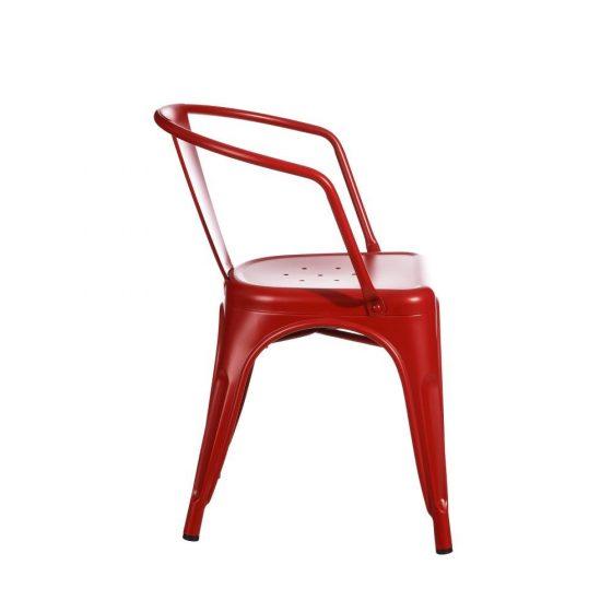 Silla tolix metal rojo dindonliving
