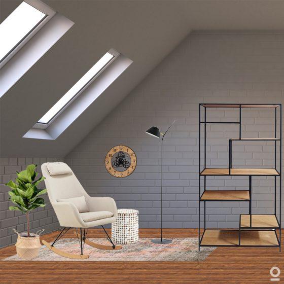 Conjunto de lectura-incluye sillón mesa y lampara de pie-dindonliving
