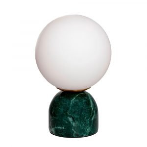 Lámpara de mesa esfera mármol verde dindonliving