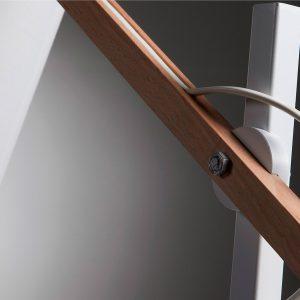 Lámpara de sobremesa blanca con brazo de madera Albali – dindonliving 02