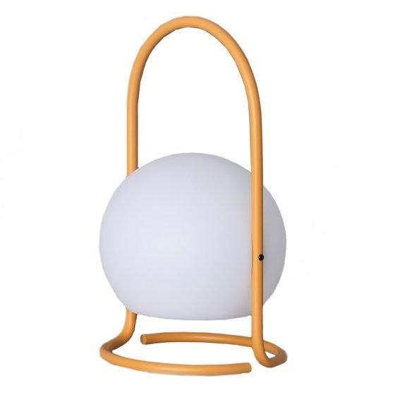 Lámpara exterior portátil con asa amarilla Alcor-dindonliving-137122-01
