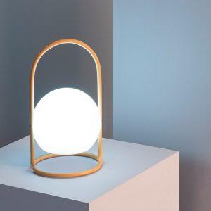 Lámpara exterior portátil con asa amarilla Alcor-dindonliving-137122-03