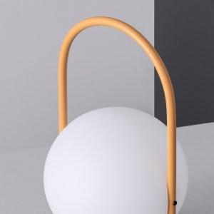 Lámpara exterior portátil con asa amarilla Alcor-dindonliving-137122-04
