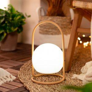 Lámpara exterior portátil con asa amarilla Alcor-dindonliving-137122-07
